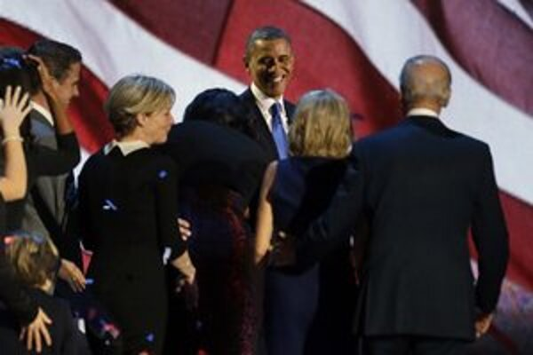 Obama prijíma gratulácie.