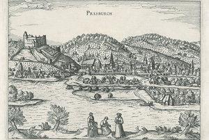 Prešporok na grafike z 18. storočia.