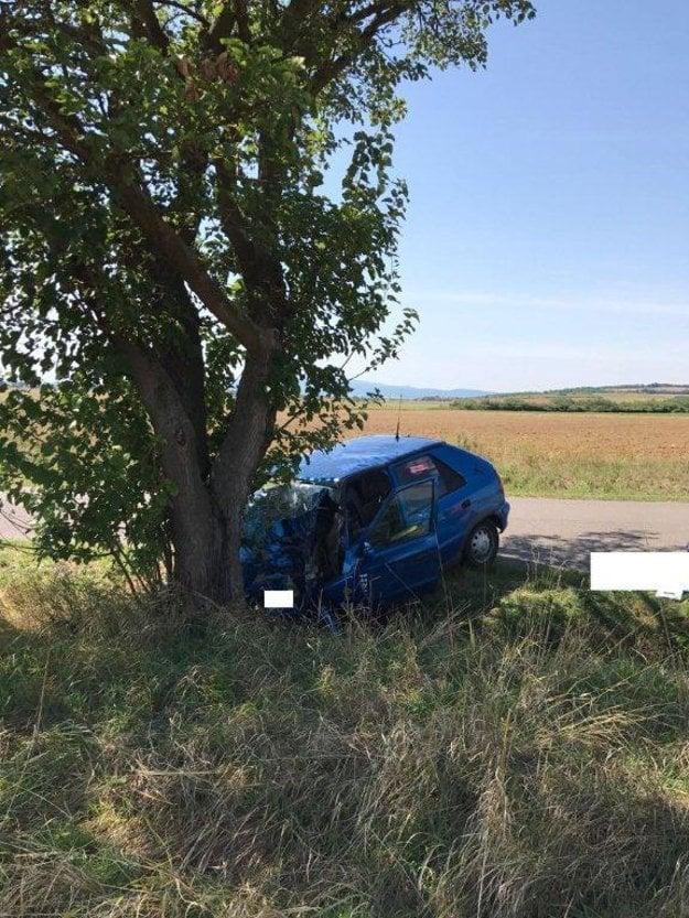 Následky nehody.