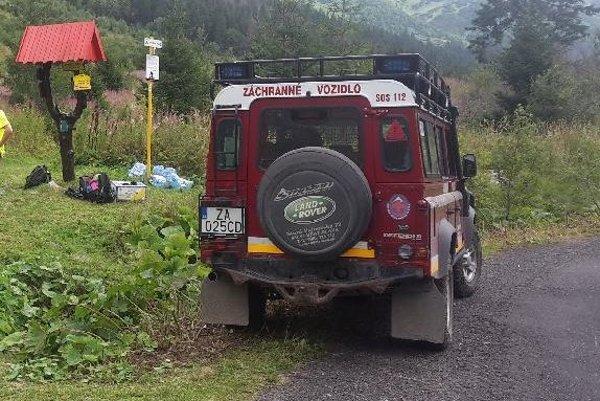 Manželka zavolala na pomoc horských záchranárov.