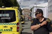 Polícia zaisťuje miesto pred americkou ambasádou v hlavnom meste Nórska.