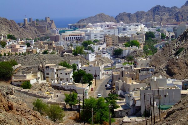Muskat - panoráma starého mesta.