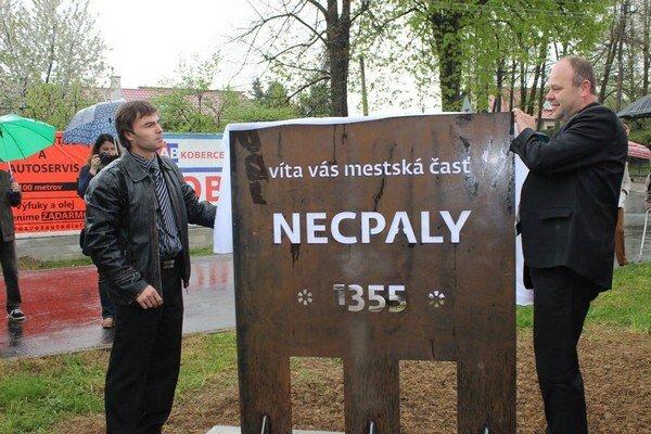 Počas osláv odhalili zástupcovia mesta informačnú tabuľu.