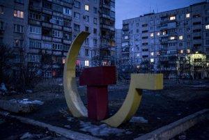Komunistické symboly na Ukrajine.