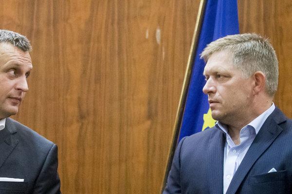 Predseda parlamentu Andrej Danko a premiér Robert Fico.