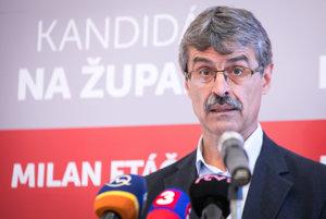 Kandidát na post predsedu Bratislavského samosprávneho kraja  Milan Ftáčnik.