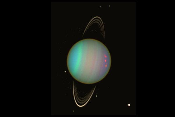 Urán a jeho okolie.