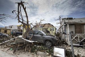 Škody, ktoré hurikán Irma napáchal na ostrove St. Maarten.