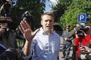 Alexej Navaľný po prepustení z väzenia.