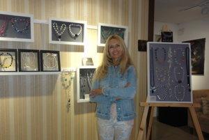Bibiana Hallová so svojou prvou výstavou.