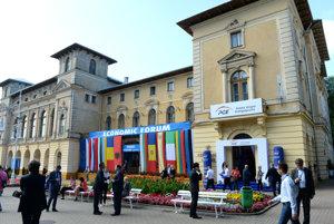 Stretnutie predsedov parlamentov V4 v rámci 26. Ekonomického fóra v Krynici.