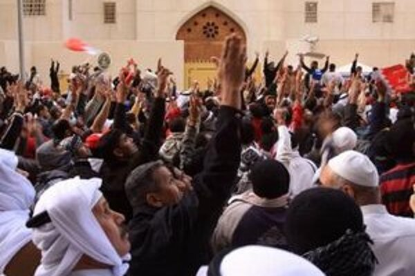 Bahrajnskí demonštranti.