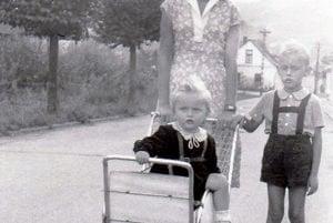 Prechádzka s mamou a bratom v Gelnici.