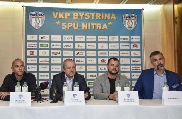 Zľava Marek Kardoš, Ivan Husár, Dušan Pangrác a Martin Kraščenič.