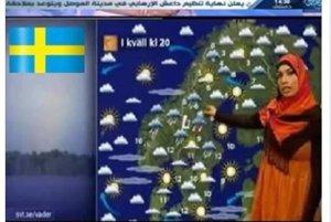 Švédska predpoveď počasia takto nevyzerá. Pozeráte sa na záber z deväť rokov starého experimentálneho vysielania.