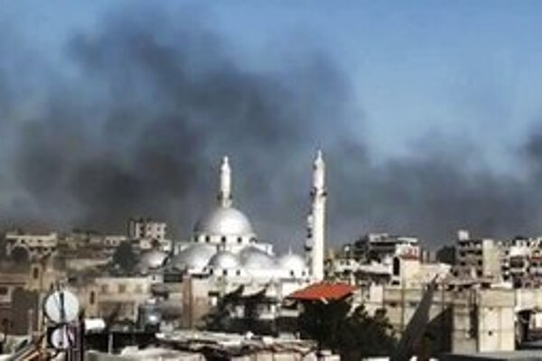 Z bojov v Sýrii.