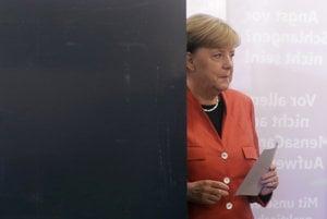 Angela Merkelová počas volieb.