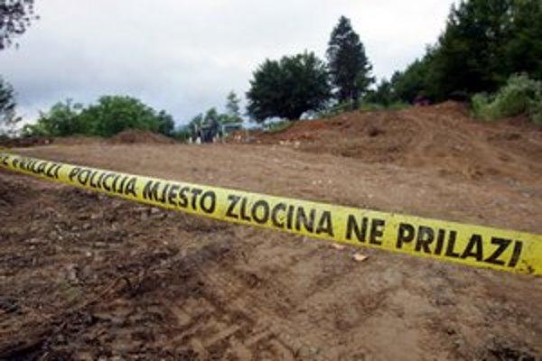 Novoobjavený masový hrob v Srebrenici.