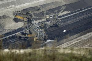 Ťažba uhlia.