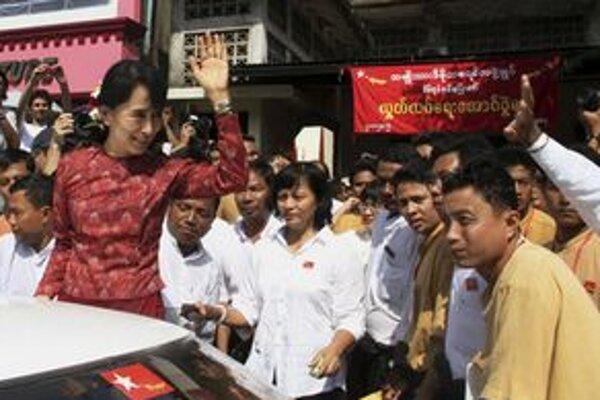Nositeľka Nobelovej ceny za mier Su Ťij.
