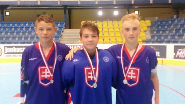 Zľava: Samuel Šimune, Marek Ambra a Samuel Hodál.