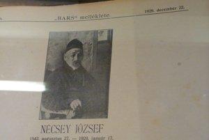 Jozef Nécsey - článok o ňom priniesli vtedajšie noviny BARS v roku 1929.