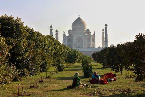 Indický Tádž Mahal.