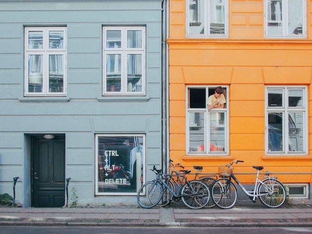 Typický pohľad na ulice v Kodani