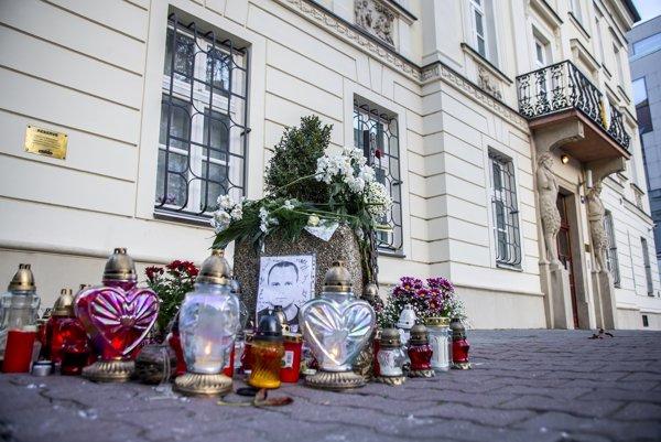 Miesto vraždy na Hviezdoslavovom námestí.