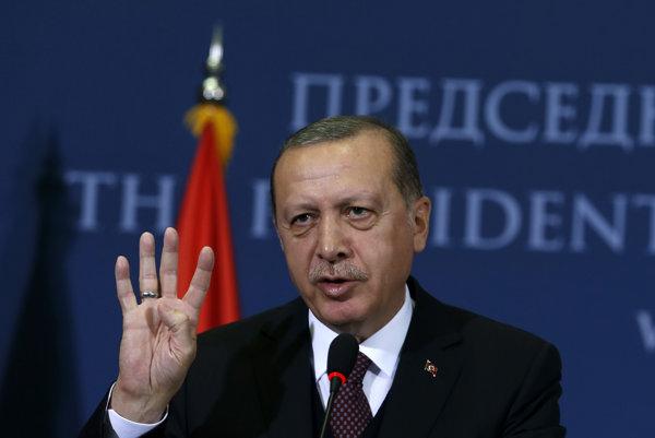 Turecký prezident Recep Tayyip .