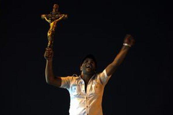 Koptskí kresťania v Káhire.