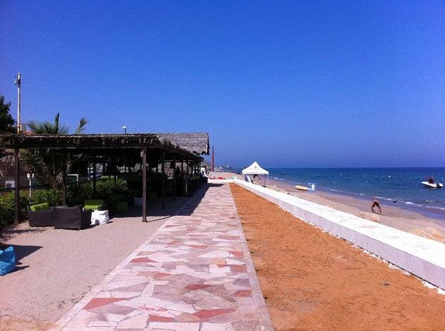 Fujairah: Mestská pláž.