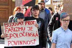 Minulotýždňový pochod proti fašizmu v Banskej Bystrici.