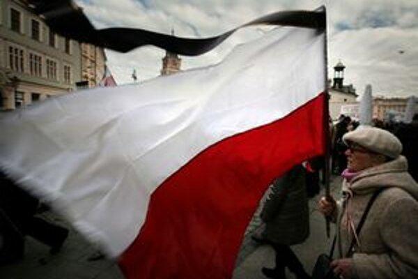 Na pochode v Krakove.
