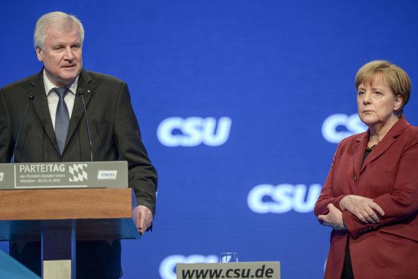 Minister Horst  Seehofer a kancelárka Angela Merkelová.