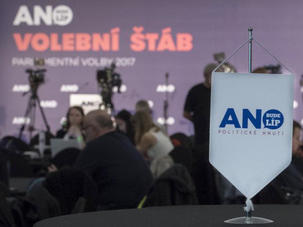 Volebný štáb strany ANO.