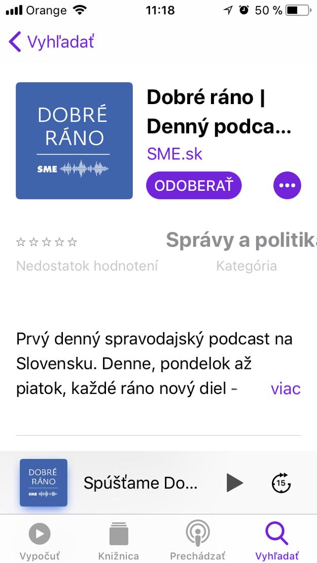 Odoberať podcast.