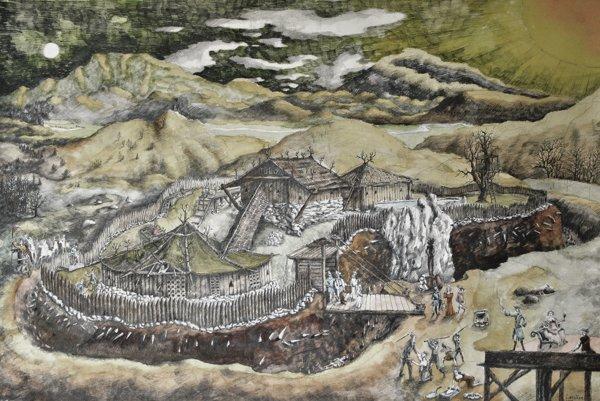 Približne takto mohol vyzerať Hrádok medzi Balážmi a Selcami.