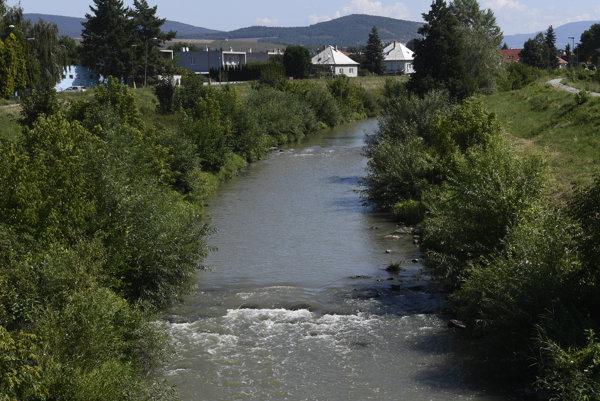 Rieka Nitra pri Partiánskom.