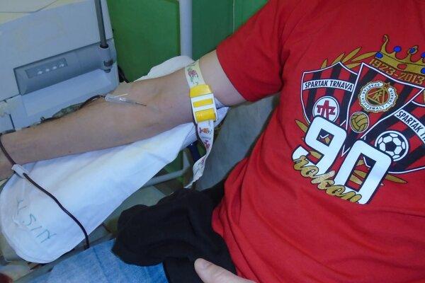 Fanúšikovia Spartaka darovali krv už po štyridsiaty raz.
