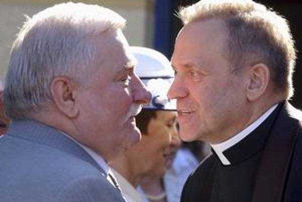 Jankowski (vpravo) s Lechom Walesom.