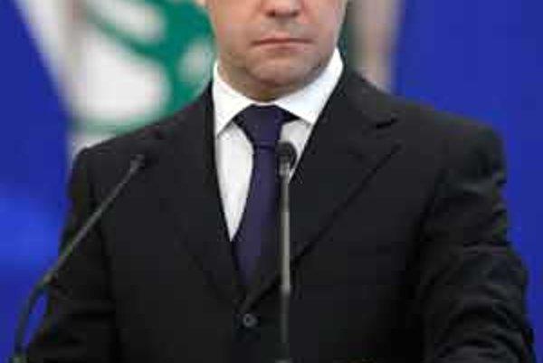Ruský prezident Dmitrij Medvedev.