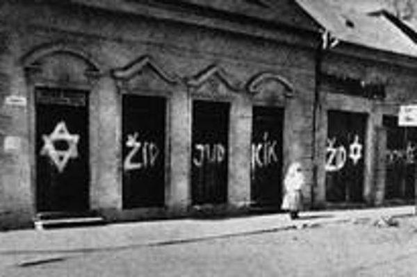 Antisemitské nápisy neboli na Slovensku počas druhej svetovej vojny ničím výnimočným.