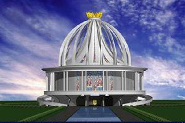 Takto by mal vyzerať kostol, ktorý plánuje postaviť poľský páter Tadeusz Rydzyk.
