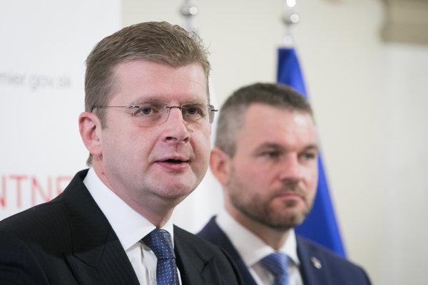Žiga (vľavo) a Pellegrini. Včera riešili aj výsledky županských volieb.