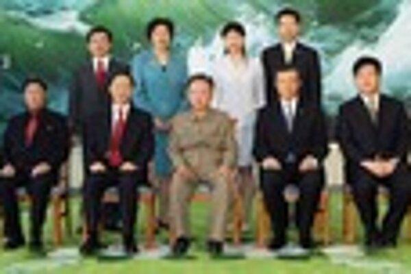 Kim Čong-il s čínskou návštevou.