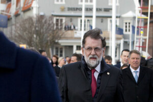 Mariano Rajoy v Göteborgu.