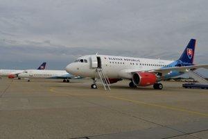 Vládny špeciál Airbus A319.
