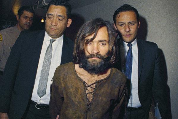 Charles Manson po zatknutí v roku 1969.