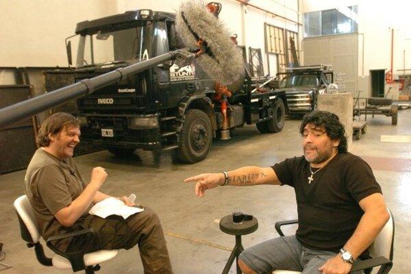 Emir Kustutica a Diego Maradona.